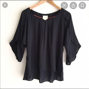 Anthropologie | Maeve Button Braxton Blouse Sz M